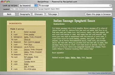 Recipe4mac recipe browser